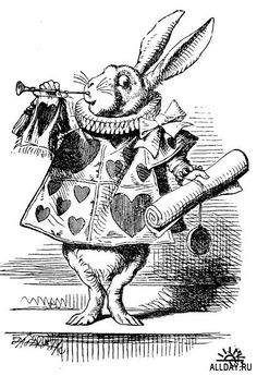 John Tenniel. cute little rabbit...