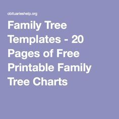 Family Tree Templates - 20 Pages of Free Printable Family Tree Charts - Genealogy Family Tree Book, Family Tree Maker, Family Tree Chart, Family Trees, Family Tree Quotes, Book Tree, Family Tree Worksheet, Blank Family Tree Template, Family Tree Templates