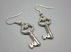 SALE Acrylic Key Earrings  quirky earrings funky earrings by Szeya, $2.00