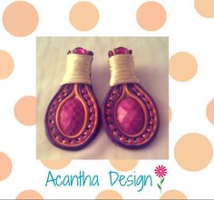 #Soutache #Earrings #Moda Soutache Earrings, Design, Ear Studs, Design Comics