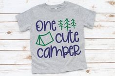 One Cute Camper svg Camping svg Camp . Camping With Kids, Kids Camp, Make Design, Silhouette Projects, Svg Files For Cricut, Vector Design, Camper, Shirt Designs, Cute