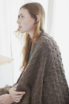 """Brooklyn Tweed """"Talon Throw"""" #knitting"""