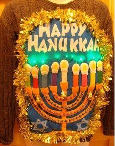Ugly Hanukkah Sweater- I think I need this...