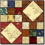 This is the quilt block that is used in the Goose Creek quilt.