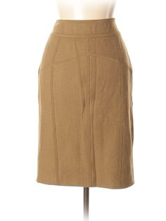 Burberry Prorsum Casual Skirt: Size 10.00 Brown Women's Bottoms - $156.99