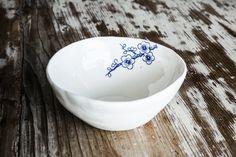 Iris porcelain side bowls - €23.00.  #soupbowls #porcelain http://www.dishesonly.com/products/iris-handmade-porcelain-side-bowls