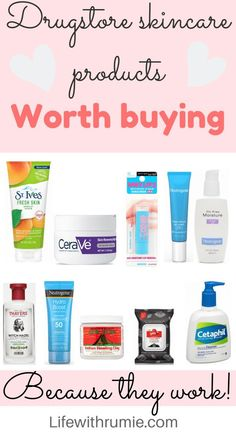 Have you ever wondered what drugstore skincare products actually work? Here are the 10 best drugstore skincare products for oily skin and acne skin skin care Skincare products you need for your oily skin - Life with rumie Skincare For Oily Skin, Drugstore Skincare, Oily Skin Care, Healthy Skin Care, Skin Care Tips, Skincare Routine, Oily Skin Moisturizer, Best Drugstore Acne Products, Makeup Looks