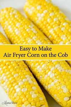 You'll love this easy recipe on how to make corn on the cob in an air fryer. This corn on the cob is so good and unbelievably quick. You'll love this easy recipe on how to make corn on the cob in an air fryer. This corn on the cob is so … Air Fryer Recipes Appetizers, Air Fryer Recipes Low Carb, Air Fryer Recipes Breakfast, Air Fryer Dinner Recipes, Appetizer Dips, Air Fryer Cooking Times, Cooks Air Fryer, Air Fryer Deals, How To Make Corn