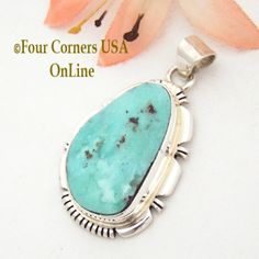 Four Corners USA Online - Dry Creek Turquoise Pendant Native American Silver Jewelry Navajo Silversmith Jane Francisco NAP-1497, $132.00 (http://stores.fourcornersusaonline.com/dry-creek-turquoise-pendant-native-american-silver-jewelry-navajo-silversmith-jane-francisco-nap-1497/)