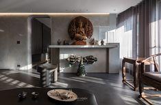 Modern Loft, Altar, Entryway Tables, Buddha, Lights, Luxury, Worship, Interior, House