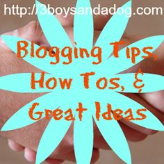 If you're new here, you may want to subscribe to my FREE Daily Updates Newsletter. Thanks for visiting!One of my most popular boards on Pinterest is Blogging Tips, How Tos & Great Ideas! That is my go-to spot to put my post from my blogging basics and learn to blog series as well as other […]