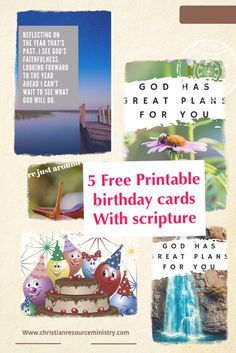 5 Free Printable Christian Birthday Cards Christianresourceministry