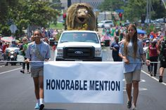 Go #LMU! Our float received an #HonorableMention in the #Westchester #FourthOfJuly parade!