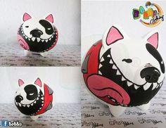 Alcancías en forma de marranitos pintadas a mano, personalizadas ... Pig Bank, Polymer Clay, Folk, Creative, How To Make, Crafts, Diy, Painting, Pigs