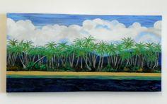 Acrylic Painting - Fiji Palms - www.harrisartstudio.com