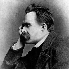 """Portrait of Friedrich #Nietzsche, 1882. One of 5 photographs by Gustav Schultze, taken in early September 1882.    In the chapter """"Shakespeare and Marcus Aurelius"""" Ezekiel recounts how """"Thus Spoke #Zarathustra"""" was one of his father's favorite books. Nietzsche started writing the novel a year after this photo was taken."""