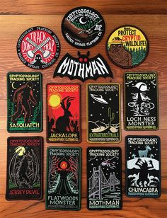 Full Patch Collection: Cryptozoology by MaidenVoyageClothing