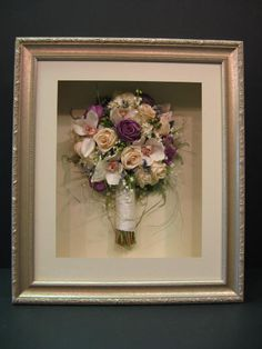 i want to dry and frame my wedding bouquet..... I wish I had done this with funeral flowers.