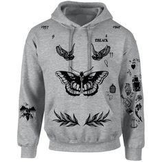 Amazon.com: Allntrends Adult Hoodie Sweatshirt Harry Styles Tattoo 1D... ($40) ❤ liked on Polyvore featuring tops, hoodies, grey hoodies, grey hoodie, hooded pullover, hooded sweatshirt and grey hooded sweatshirt