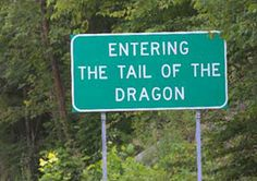 With 318 curves in 11 miles, is America's number one motorcycle and sports car road. Deals Gap, also known as Tail of the Dragon, is a portion of U.S. Route 129 in Blount County, Tennessee, situated in a gap in Swain County, North Carolina, United States. It's heralded as one of the most scenic drives in USA.