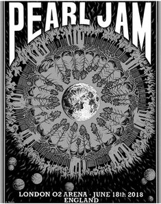 Tour Posters, Band Posters, Music Posters, Event Posters, Recital, Pearl Jam Posters, Rock Album Covers, Pearl Jam Eddie Vedder, London Poster