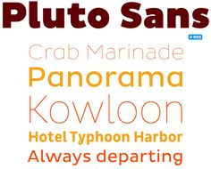 Pluto Sans is a companion to Pluto, last year's absolute best-seller. While the original Pluto isn't exactly a serif typeface, it does have bent terminals and other somewhat eccentric details that make it less than ideal for longer text settings. Pluto Sans solves that problem. Its straight strokes and simple forms make it a perfect typeface for body texts in smaller sizes and for usage on screens. And just like its older brother, Pluto Sans is a hit.