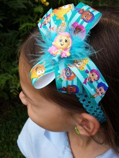 Hey, I found this really awesome Etsy listing at https://www.etsy.com/listing/229217637/bubble-guppies-glitter-headband-or-bow