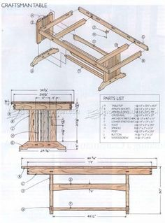 Craftsman Style Dining Table Plans   Furniture Plans And Projects    Woodwork, Woodworking, Woodworking Plans, Woodworking Projects