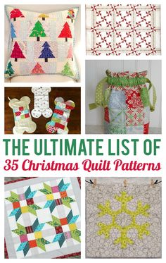 Are you ready to beat the summer heat with visions of sugar plums? Get an early start on your holiday quilting projects with an ultimate roundup our favorite Christmas quilting patterns. Check out 35 projects you can grab now and sew later!