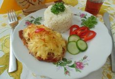 Császárszelet Baked Potato, Feta, Mad, Pork, Potatoes, Eggs, Baking, Breakfast, Ethnic Recipes