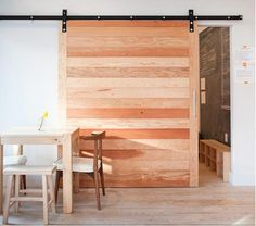 a more modern barn door Architectural Elements: Sliding Barn Doors: Barn Style Doors, Doors Interior, House Design, House, Door Design, Pallet Door, Home, Interior, Architectural Elements