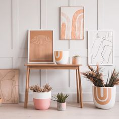 Discover warm pastel colors in minimalist art prints by Anna Pepe Combined with other items from Rose & Grey… Bathroom Red, Boho Bathroom, Decor Interior Design, Interior Decorating, Minimal Art, Decor Inspiration, Boho Home, Terracota, Décor Boho