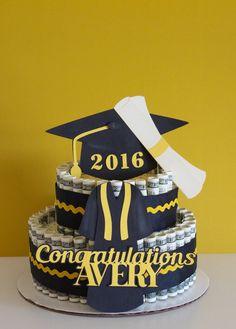 Money Cake Graduation by NewECreativeGifts on Etsy