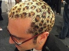 leopard patterned hair