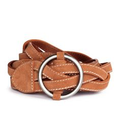 PREMIUM QUALITY. Braided suede belt with a round metal buckle at front.  Width approx 416f9a13607