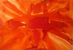 Orange ink on paper