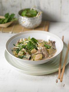 Thai - Töpfchen mit Rindfleisch, Kokosmilch und Zitronengras
