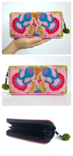 Boho Embroidery Wallet - Hmong Purse - Gypsy Ethnic Purse ( FREE SHIPPING WORLDWIDE )