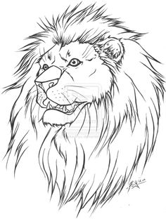 clip art drawings | Lion Tattoo Lineart version by ~WickedRyu on deviantART