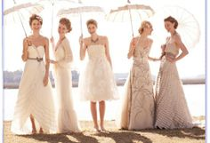 Good excuse to wear your wedding dress again...take pictures with your married girlfriends - I want to do this!