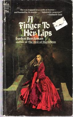 I WANT THAT DRESS! // A Finger to Her Lips by Evelyn Berckman (1972 Pperback) F042514