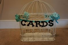 Turquoise/Brown Love Bird Themed Wedding Decor :  wedding love bird turquoise teal brown candy buffet wishing tree 139