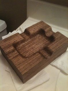 Decorative Smoking Accessory Puzzle Fused Glass Handmade Rectangular Ashtray