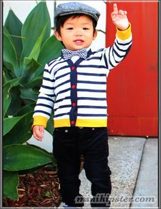 1. Okay, so he's a little young for school, but this outfit is too cute. Super fresh! #momselect #backtoschool