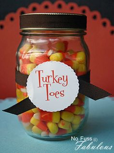 Thanksgiving Turkey Toes Favor | Loralee Lewis