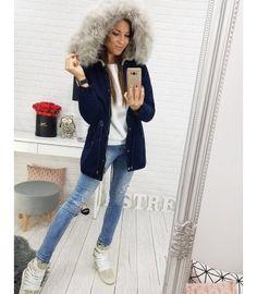 Bunda dámska zimná párka tmavomodrá Parka, Style, Fashion, Swag, Moda, Fashion Styles, Fashion Illustrations, Parkas, Outfits