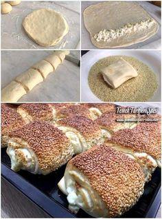 Yumurtasız Katmer Poğaça Tarifi - galletas - Las recetas más prácticas y fáciles Delicious Cake Recipes, Yummy Cakes, Dessert Recipes, Yummy Food, Donut Recipes, Pastry Recipes, Cooking Recipes, Savory Pastry, Arabic Food