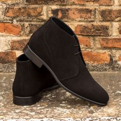 Custom Made Chukka Boot in Black Luxe Suede Luxury Concierge Services, Mens Chukka Boots, Men Looks, Calf Leather, Casual Shoes, Calves, Men's Shoes, Pairs, Mens Fashion