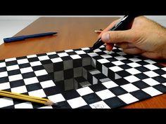 Agujero de ajedrez - 3d - Ilusión óptica - YouTube