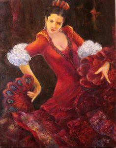 Israel Paintings ArtWorks :: PicassoMio www.picassomio.com472 × 600Buscar por imagen Flamenco couple 2 by Sylva Zalmanson لوحات شرقية - Buscar con Google
